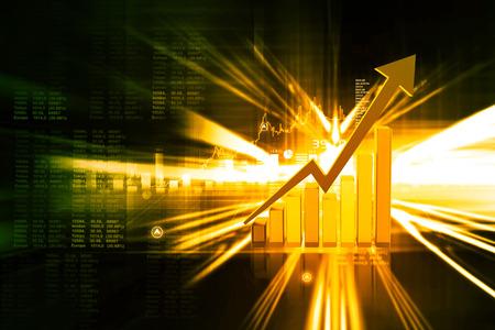 Digital illustration of Business graph Stock Photo