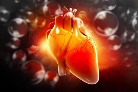 sick person: Human heart