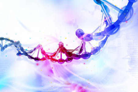 stems: Digital illustration of dna Stock Photo