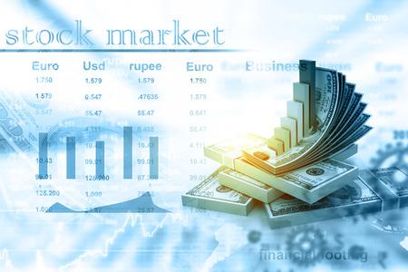 Digitale illustratie van Financiële groei concept