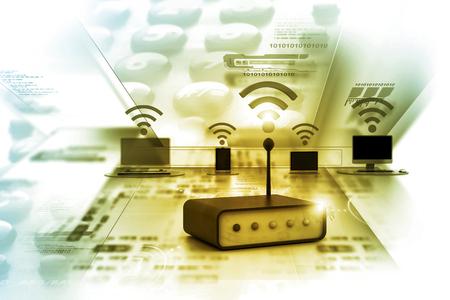 internet connection: Digital illustration of Internet connection