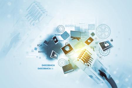 デジタル ネットワーク デバイス 写真素材