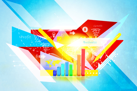 stock listing: Business graph in abstract background Stock Photo