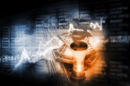 金融の背景 写真素材
