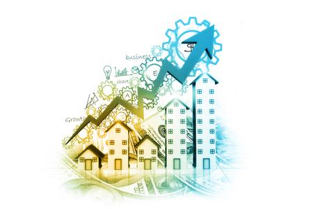 bienes raices: Gráfico del mercado de la vivienda