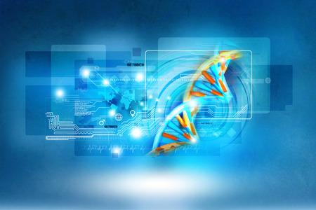 scientific research: Digital illustration of dna Stock Photo