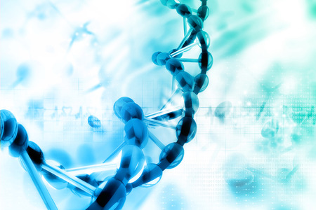 Digital illustration of dna Stock Photo
