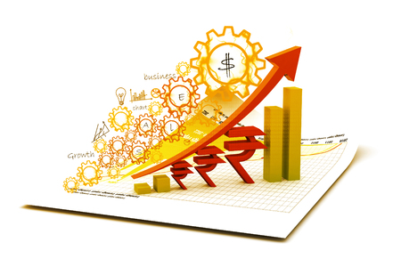 rupee: Indian rupee  growth chart