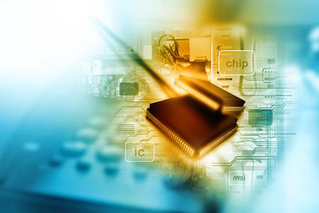 Elektronische geïntegreerde schakeling chip Stockfoto