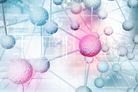 Antecedentes de la molécula Foto de archivo