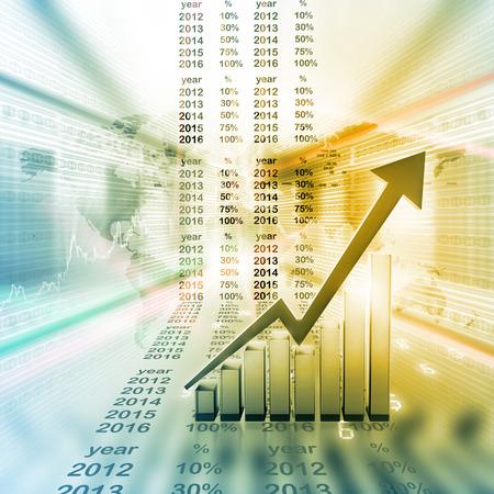 Conomique graphe boursier Banque d'images - 52002817