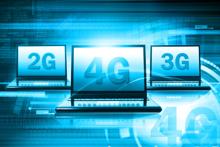 3g: Wireless 4G technology Stock Photo