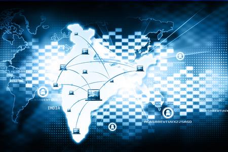 Inde numérique technologie Internet Banque d'images - 56007815