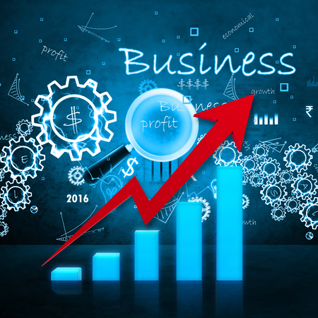 stock listing: Business graph Stock Photo