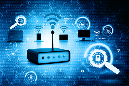 network devices: Digital illustration of network devices