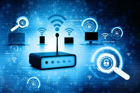 digital illustration: Digital illustration of network devices
