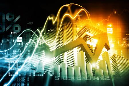 stock: Economical stock market graph