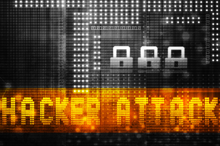 internet attack: Digital Internet security background. Hacker attack concept Stock Photo