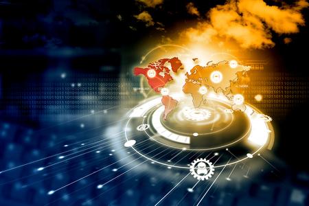technologie de réseau numérique Banque d'images