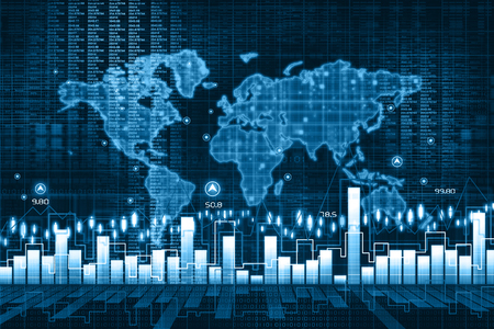 stock chart: Economical stock market chart Stock Photo