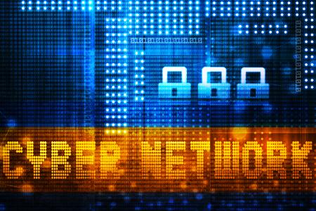 internet network: Digital Internet technology background. Cyber network concept Stock Photo