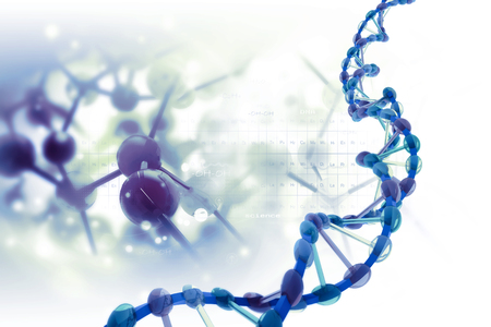 stem cell: DNA structure on scientific background Stock Photo