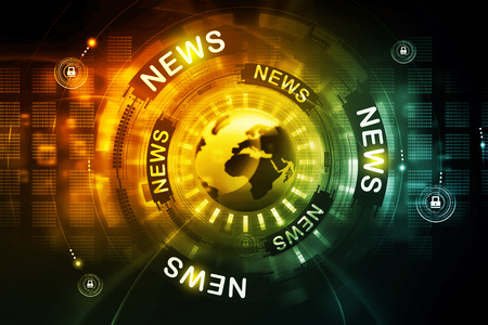 digital news: Digital news background Stock Photo