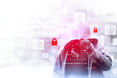 blackmail: Digital internet security concept Stock Photo