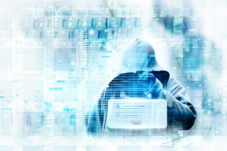 Digital internet security concept Banque d'images
