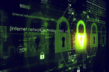 security technology: Digital security concept