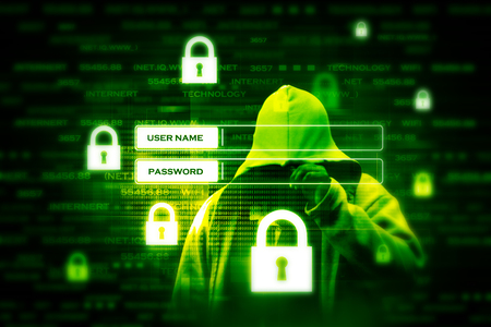 Digital internet security concept Stock Photo