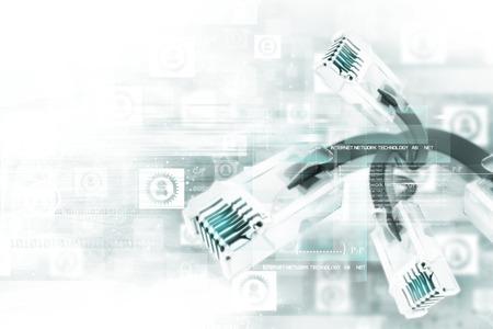 technology: Digitální síťový kabel Reklamní fotografie