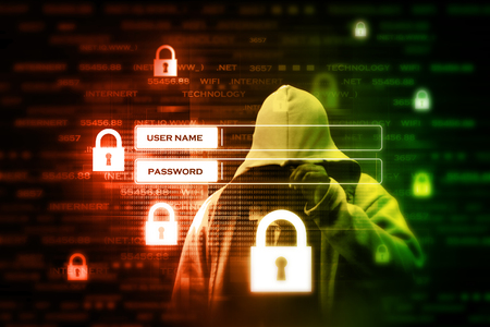 Digital internet security concept Stock Photo