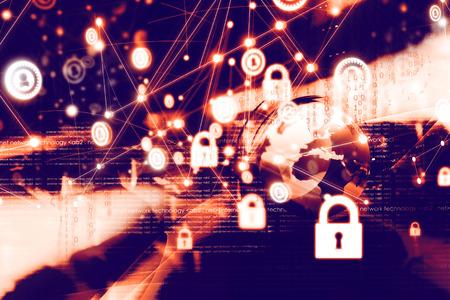Secure network concept Banque d'images