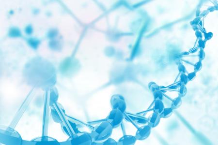 Ilustración digital de ADN Foto de archivo