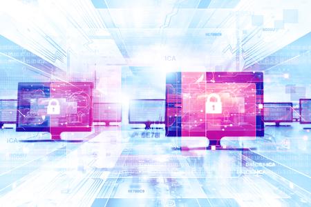 Secure network background Banque d'images