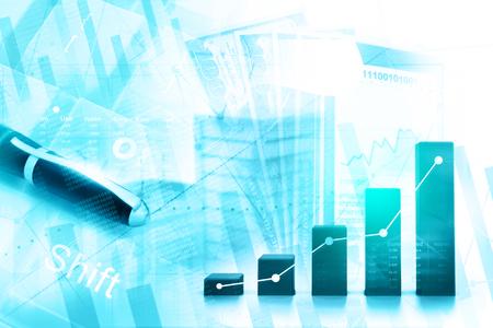 Wirtschaftliches Börsendiagramm