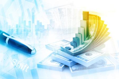 Financial background Banco de Imagens