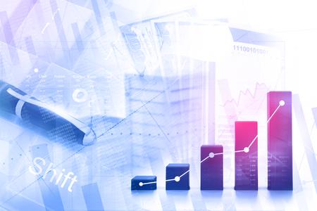 Ekonomiczny wykres giełdowy
