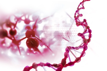 DNA structure on scientific background Banque d'images