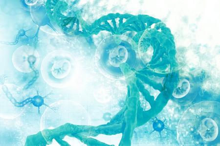 Dna structure on scientific