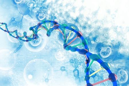 Structure de l'ADN sur la science Banque d'images