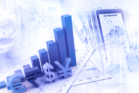 Economical stock market graph