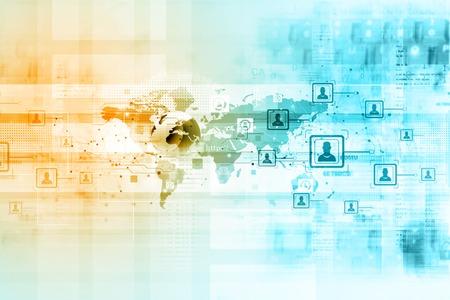 Business network. (Communication concept)