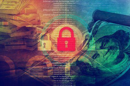 Financial security concept Banque d'images