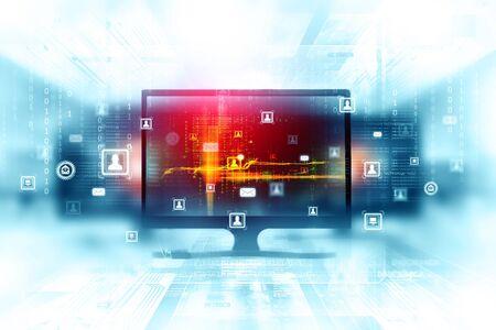 Digital internet technology Banque d'images