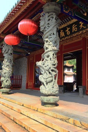 Dragon pillars in Matsu Temple photo