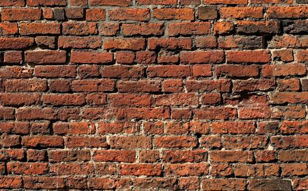 The true brick wall from the epoch of Middle Ages photo