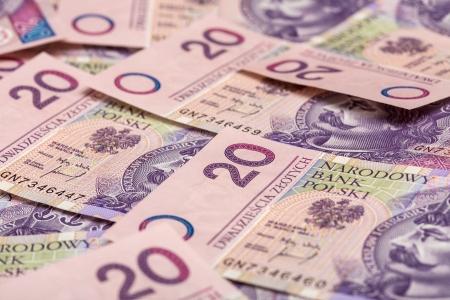 Poland flat money twentieth zloty. Stock Photo - 14930819