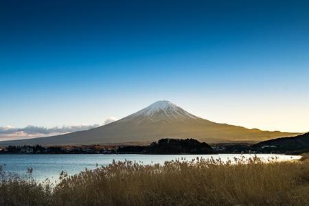 kawaguchi: Mt.Fuji and Lake Kawaguchiko, Japan Stock Photo